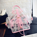 2017 Hot Sale New Jelly Shoulder Bag Transparent Bags Korean Version Casual Female Bag Clear Personalized Backpacks BAGM6163
