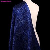 143 100cm1pc Good Jacquard Brocade Fabric French Design Blue Jacquard Brocade Fabric Sewing Material Diy Fashion