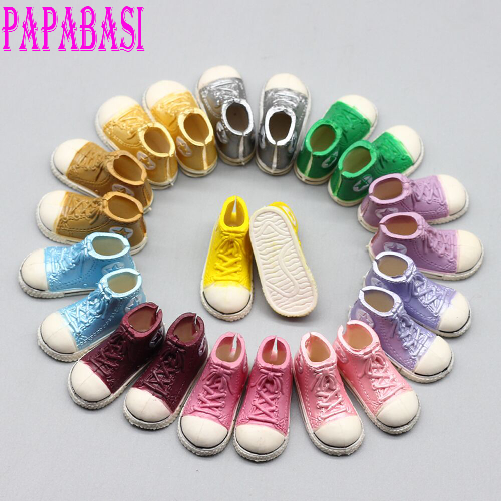 Mixed 5pair color Fashion 12 inches 3.5cm Doll Shoes For 1/6 Scale Tangkou Blythe Dolls BJD Doll Accessories et023 doll accessories fashion socks variety of multi color for 1 6 1 4 1 3 bjd doll