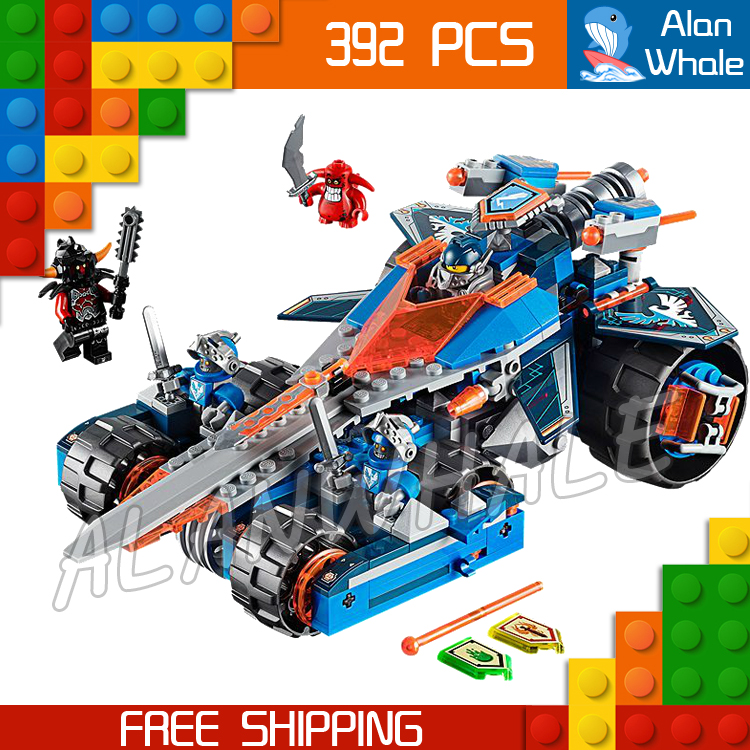 392pcs LEPIN Knights Clay's Rumble Blade Jestro Clay Model Building Blocks Children Brick Nexus Compatible With Lego lepin 02012 city deepwater exploration vessel 60095 building blocks policeman toys children compatible with lego gift kid sets