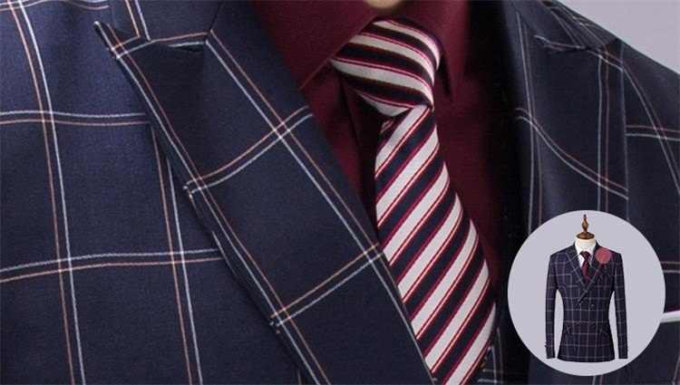 Ch。kwokダブルブレストメンズドレスタキシードスーツ3ピースジャケットパンツベスト結婚式ブレザーパッチワーク格子スーツ