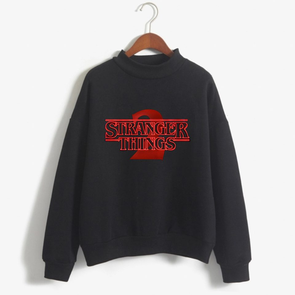 Cool Fashion Hoodies Stranger Things Season 2 Clothing Funny TV Stranger Things 2 Female Models Capless Sweatshirts XXS To 4XL