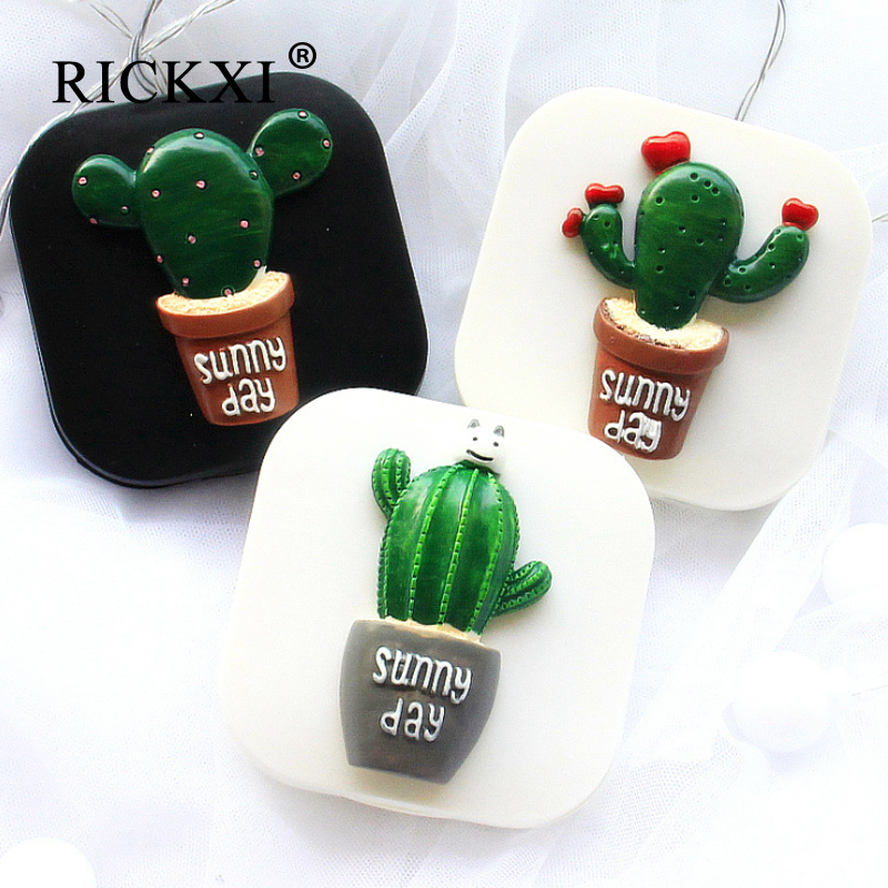 Lovely Contact Lens Container Green Plant Design Handmade Contact Lens Case Travel Kit Lenses Box Eyes Care Holder