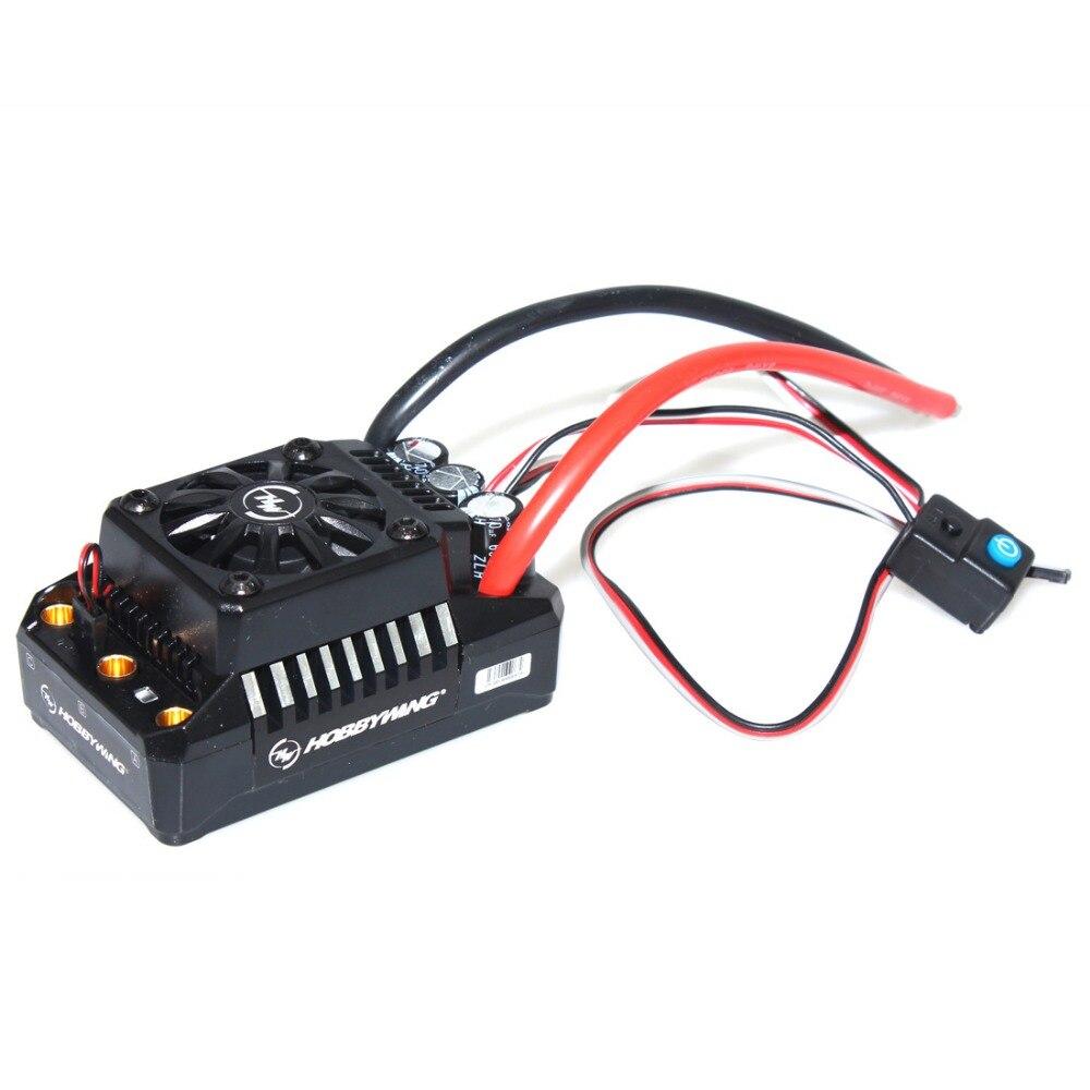 Hobbywing EzRun Max6/Max5 V3 160A/200A controlador de velocidad impermeable sin escobillas ESC para 1/6, 1/5 coche RC Crawler camión F17810/11