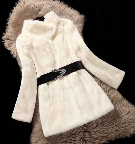 Manteau burgandy Long Fourrure Main Beige Complet Mode De Femelle 100Réel Tfp706 Femmes Pelt Lapin RL43Sq5cAj