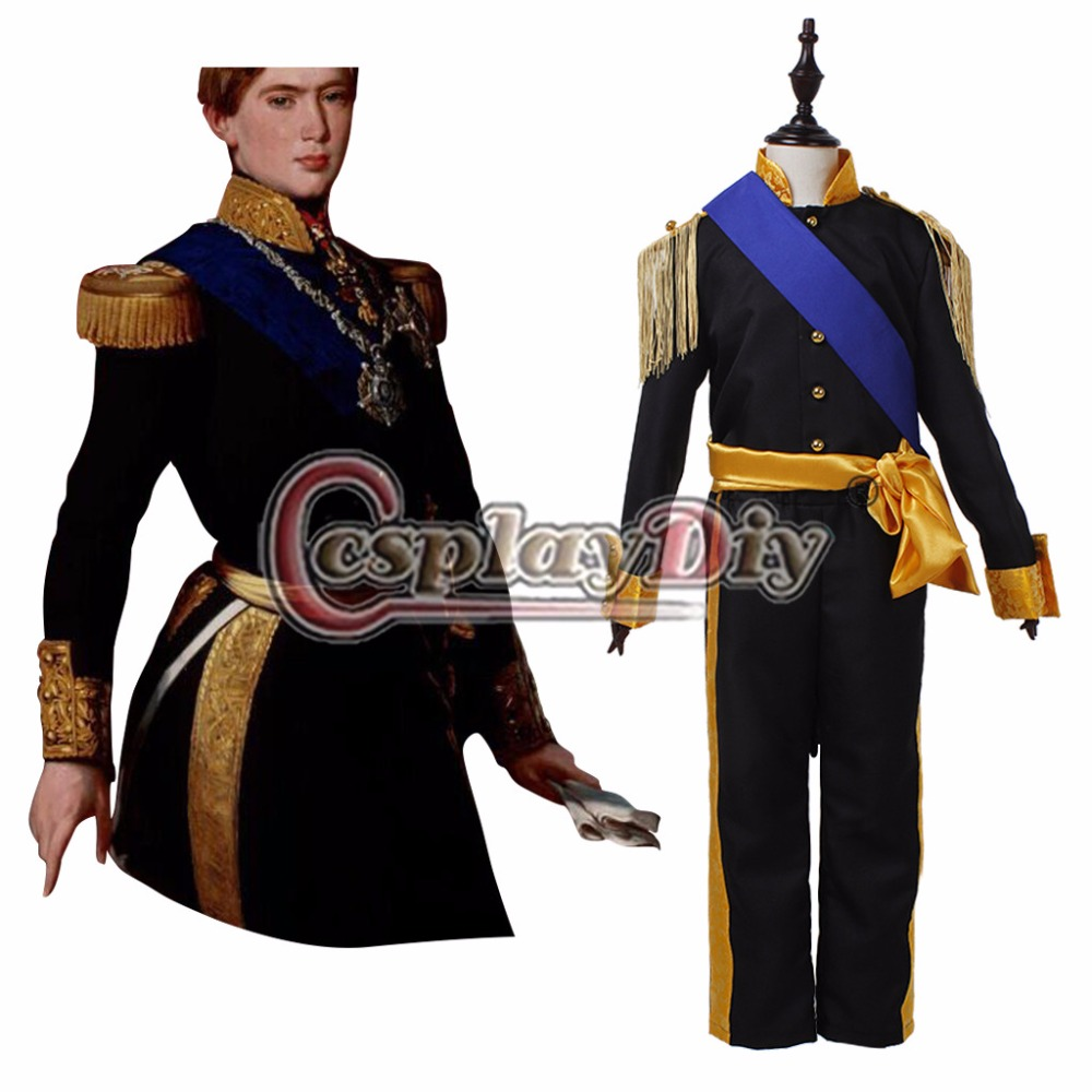 Custom Made Cinderella Prince Costume Kids Cool Fancy Party Prince Cosplay Outfit Halloween Costume D0506