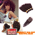 Ali Grace Hair Products Burgundy Brazilian Hair 99j Colored Brazilian Hair Red Wine Short Curly Weave 4 Bundles With Closure
