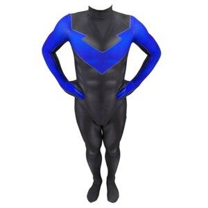 Image 5 - 3D stampa nightwing Costume Cosplay nightwing Zentai Tuta Vestito Tute E Tute Da Palestra costumi di halloween per gli uomini adulti