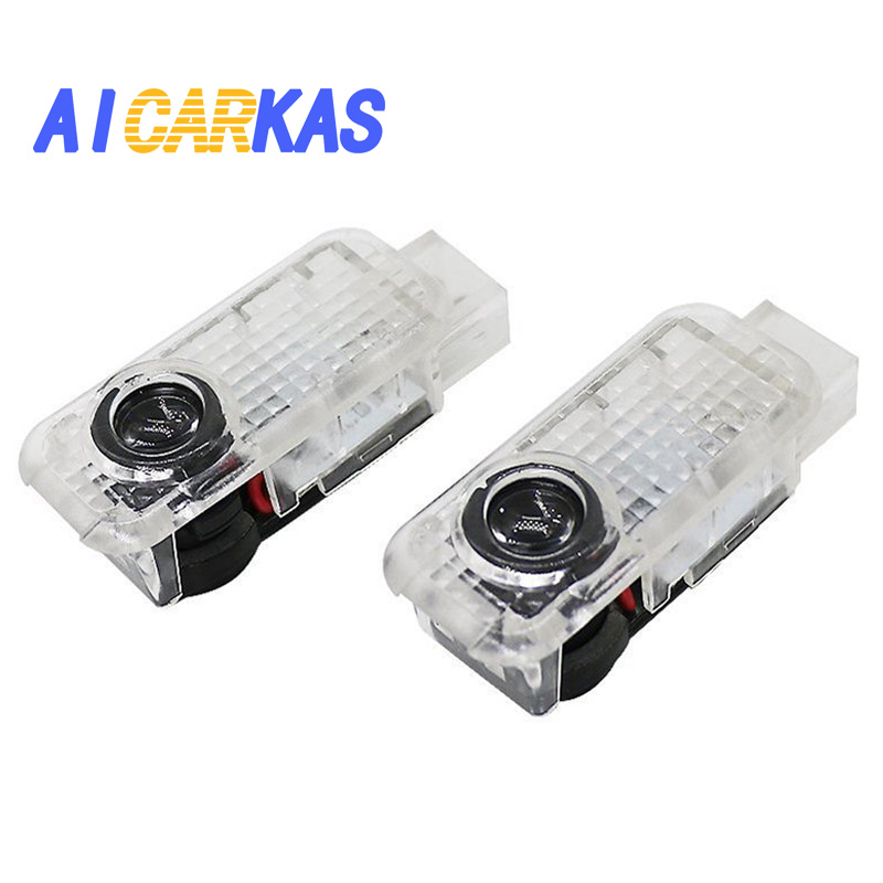 AICARKAS 2 PCS Car Door LED Logo Light Welcome Lamp for Audi A8 A6L A5 A6 C5 A4L A3 A4 B5 A1 R8 TT Q5 Q7 A6L Door LED Logo Lamp