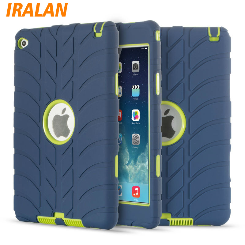 Hybrid Armor Silicone Case For iPad Mini 4 Shockproof Heavy Duty Hard drop resistance Kids Safe ipad tablet accessories for ipad 2 ipad 3 ipad 4 case kids safe shockproof heavy duty rubber hybrid armor hard case cover stylus