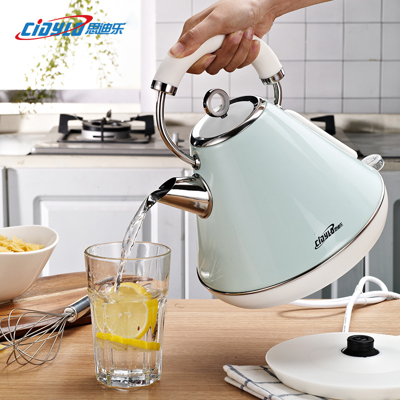 Cidylo 1.8L 220V Electric Kettle Handheld Kitchen Kettle with Heating Temperature Automatic Power-off Protection Water Kettle title=