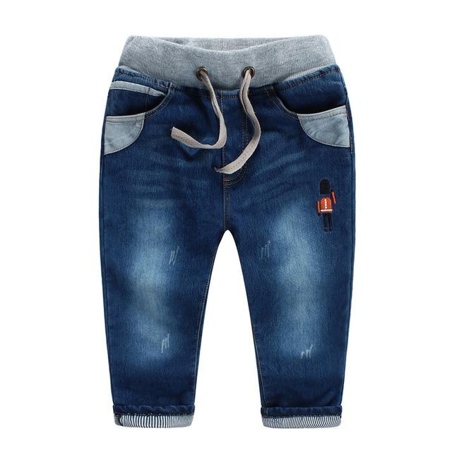 2015 новый зимние и осенние дети джинсы для мальчиков мода флис теплые брюки бренд qualtiy девушки карандаш джинсы