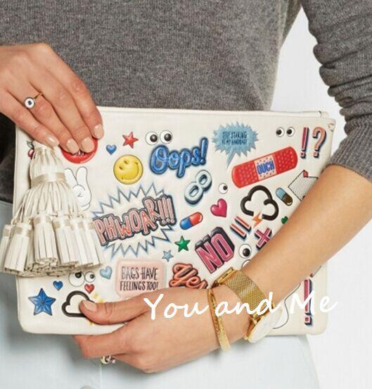 Anya hindmarch clutch women bag cartoon graffitti envelop clutch anya  hindmarch women s designer clutchbrand women clutch 7bf64afd927d