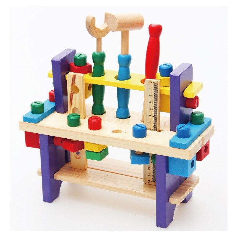 Montessori en bois outillage jouets garçons enfants semblant jouer enfants jouets préscolaires Brinquedo Oyuncak Brinquedos Juguetes pour enfant cadeau