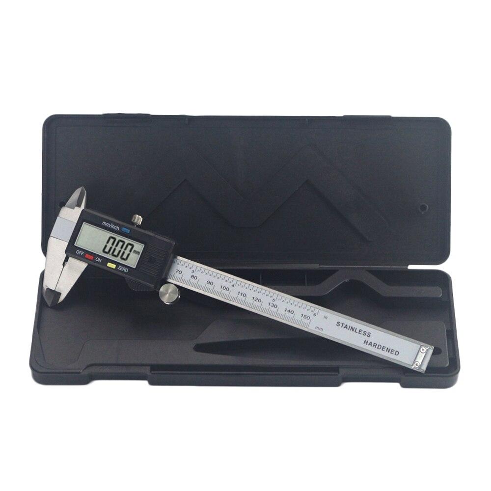0-150mm Elektronische Messschieber Digital Messschieber Edelstahl Herrscher Gauge Mikrometer LCD Mess Werkzeuge