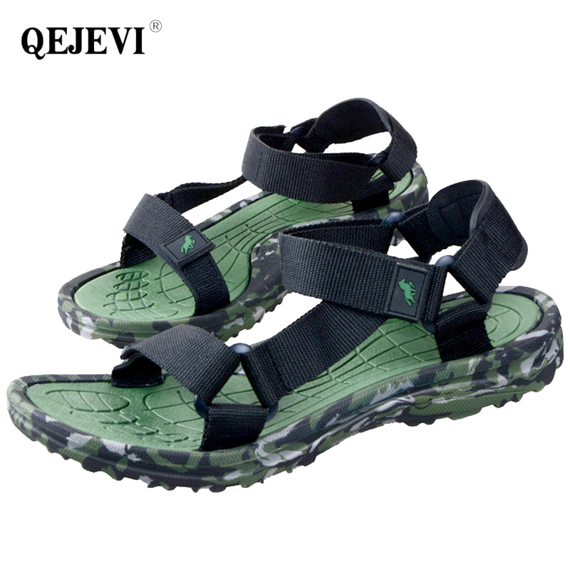 70067bfb9b24 2018 Outdoor Sandals Men Aqua Barefoot Beach Shoes Flat Sandals Walking  Hook Loop Camouflage Sandalias Man Flip Flops Slippers-in Beach   Outdoor  Sandals ...