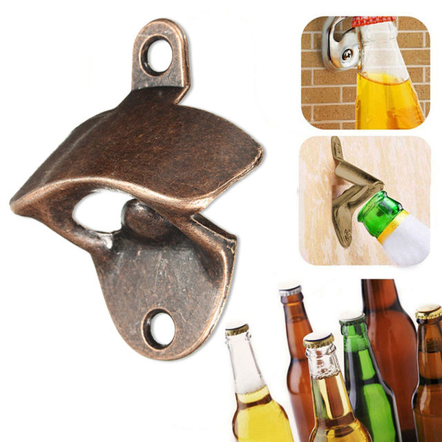 1pc Wine Beer Soda Gl Cap Bottle Opener Bar Tools Vintage Bronze Wall Mounted Kitchen