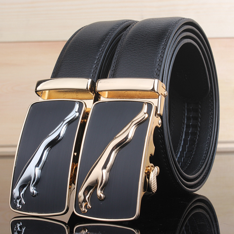 Fashion Brand Leather   Belt   Business Trouser Strap Pant Ceinture Homme Cowskin Automatic Buckle Cowhide Men   Belts