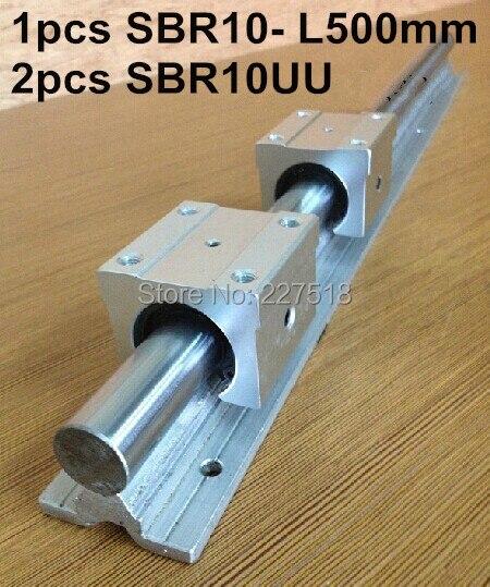 1pcs SBR10 L 500mm linear rail support with 2pcs SBR10UU linear guide auminum bearing sliding block cnc parts support rail assemble guide 1pcs tbr25 l1000mm support with 2pcs tbr25uu