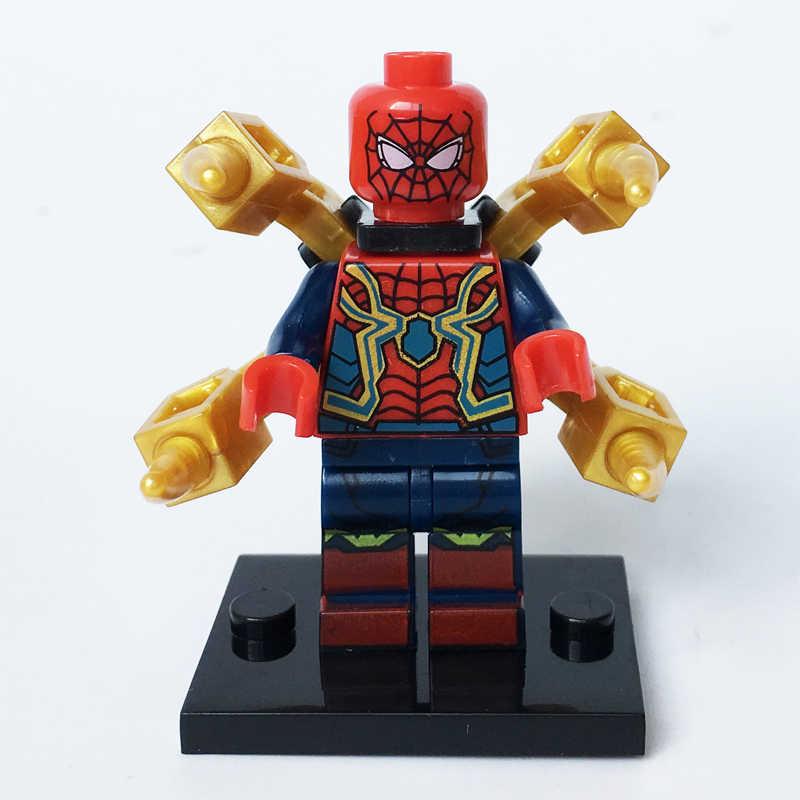 MARCA NEW Super Heróis marca De Ferro Do Homem Aranha Spider-man terno Infinito Guerras Vingadores compatível blocos tijolos Crianças brinquedo