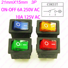 (4PCS/4Lights)21mm x 15mm O – Rectangle Waterproof Rocker Switch+Cover Car Dashboard Boat Switch with 220V light