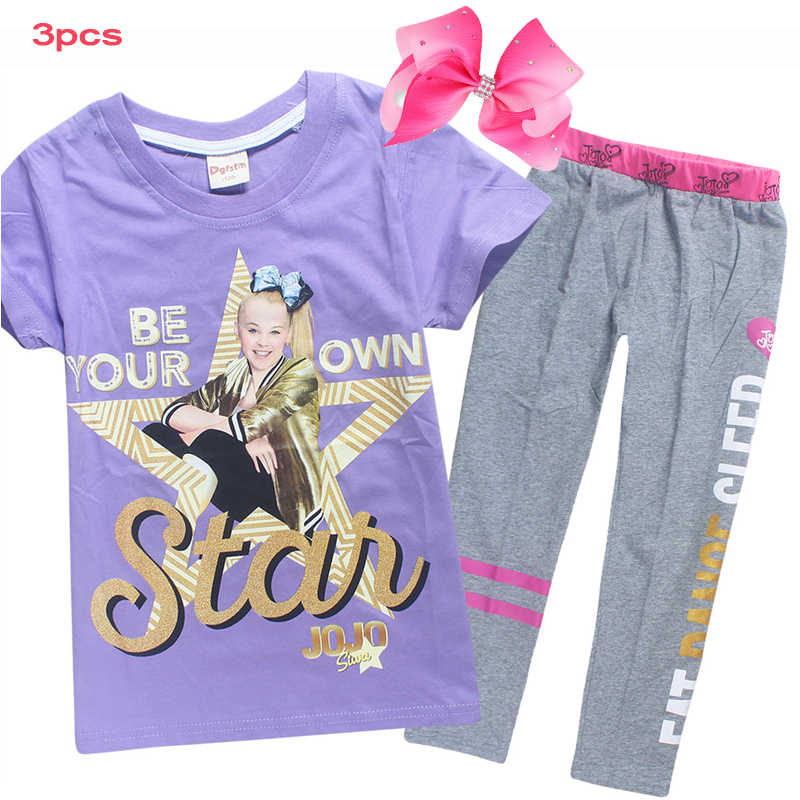 3af33724bfdb Detail Feedback Questions about 2018New Summer JOJO SIWA Cotton Set ...