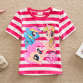 retail 2016 new t-shirts baby girls short sleeve lace children cartoon little pony clothing kids kids clothes girls t-shirt nova