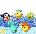 Детская Ванночка Игрушка Squirters Для Ванной Классический Океан Пингвин Кита Игрушки 6 М +