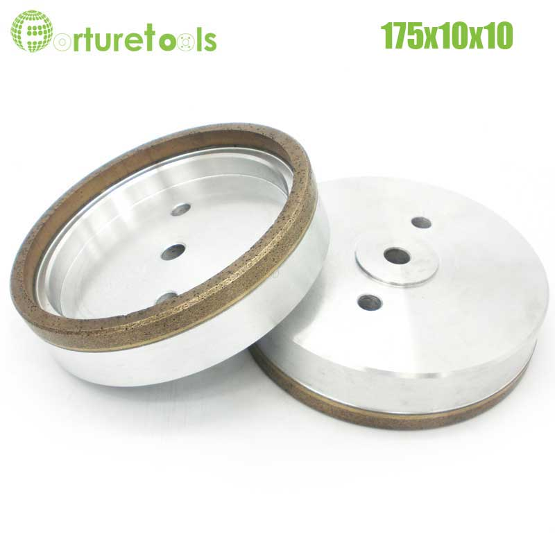 Buy 1pc Full rim 3# diamond wheel for architectural glass edger Dia175x10x10 Inner Diameter 12/22/50 grit 240# online sell BL011 1piece 4 resinoid diamond wheels for glass straight line glass edger beveling machine dia130x8x8 hole 12 22 50 grit 240 bl020