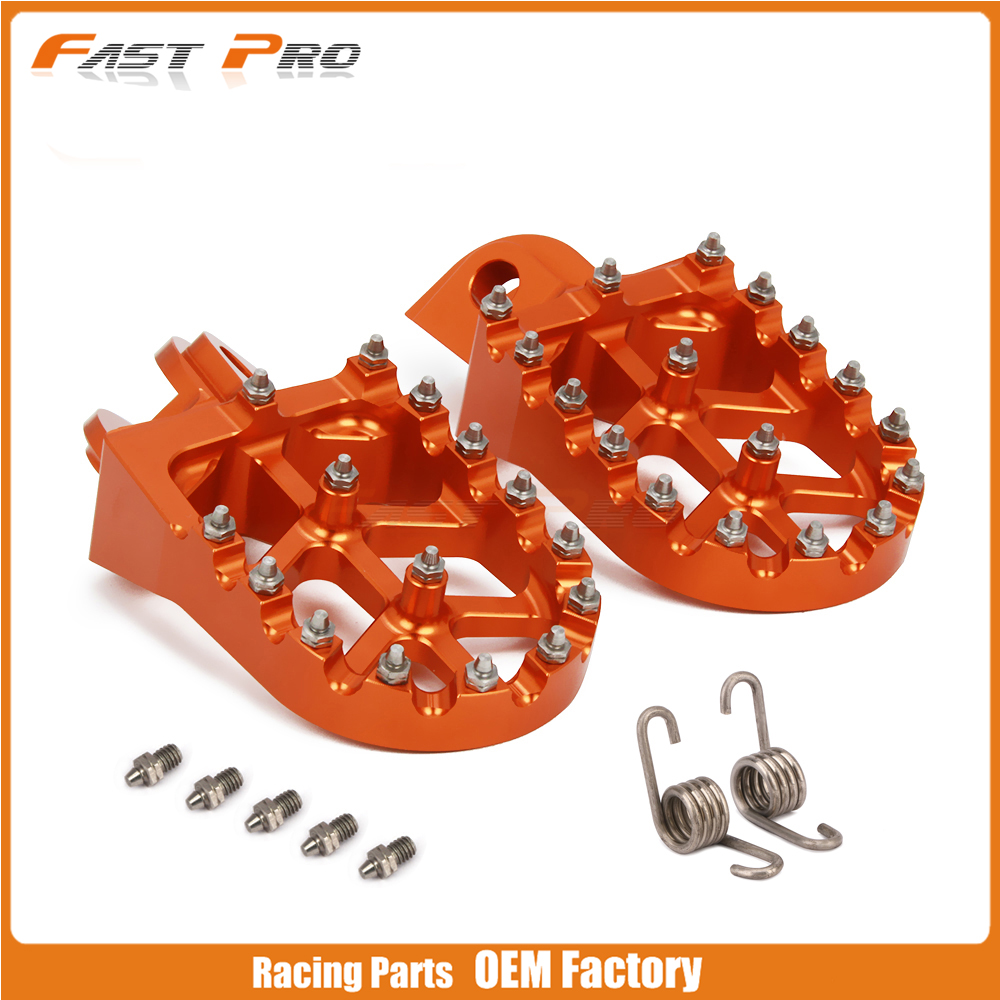 Motorcycle Billet Foot Pegs Rests Pedals Footrest Footpegs For KTM EXC SX SXF XC XCF EXCF EXCW TC TE 65 125 250 350 400 450 530