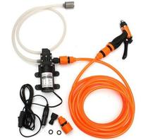 Portable sprayer for watering flowers and washing car with plastic nozzle and car power adaptor