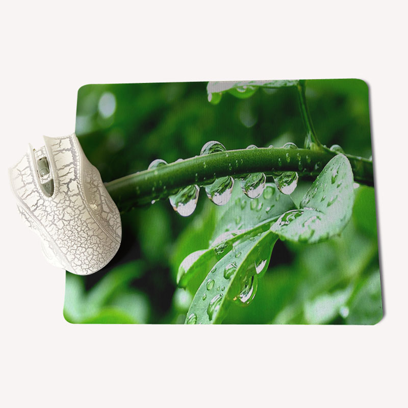 Babaite Personalized Cool Fashion Green leaves Beautiful Anime Mouse Mat Size for 180x220x2mm and 250x290x2mm Small Mousepad
