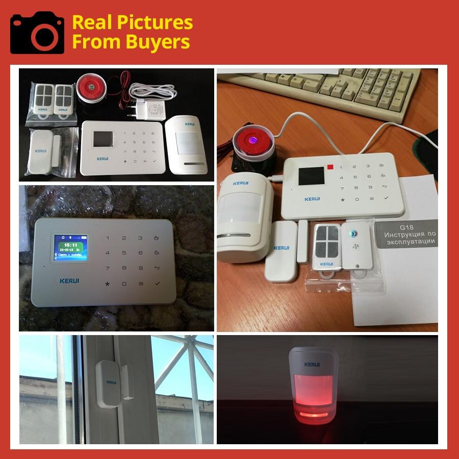 KERUI G18 Wireless Home GSM Security Alarm System DIY Kit APP Control With Auto Dial Motion Detector Sensor Burglar Alarm System 27
