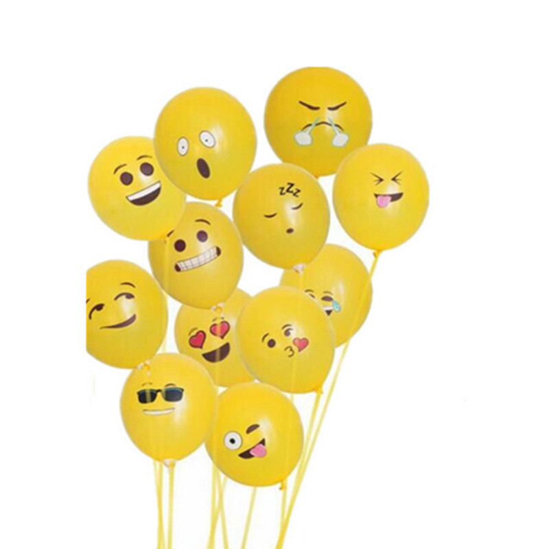 50 pcs/lot 10 inch 2.8g Latex emoji balloon Helium Round balloons Thick Pearl ba