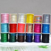 купить 18 Colors 10m Nylon Cord Thread Chinese Knot Macrame Cord Bracelet Braided String DIY Tassels Beading Shamballa String Thread по цене 62.7 рублей