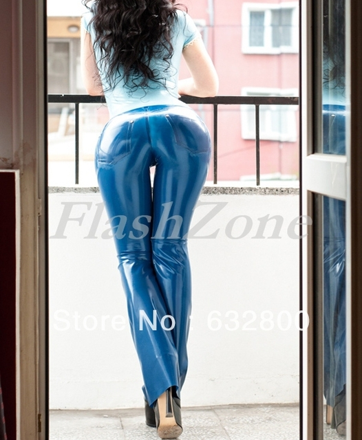 Latex trousers rubber Jeans-in Pants from Novelty