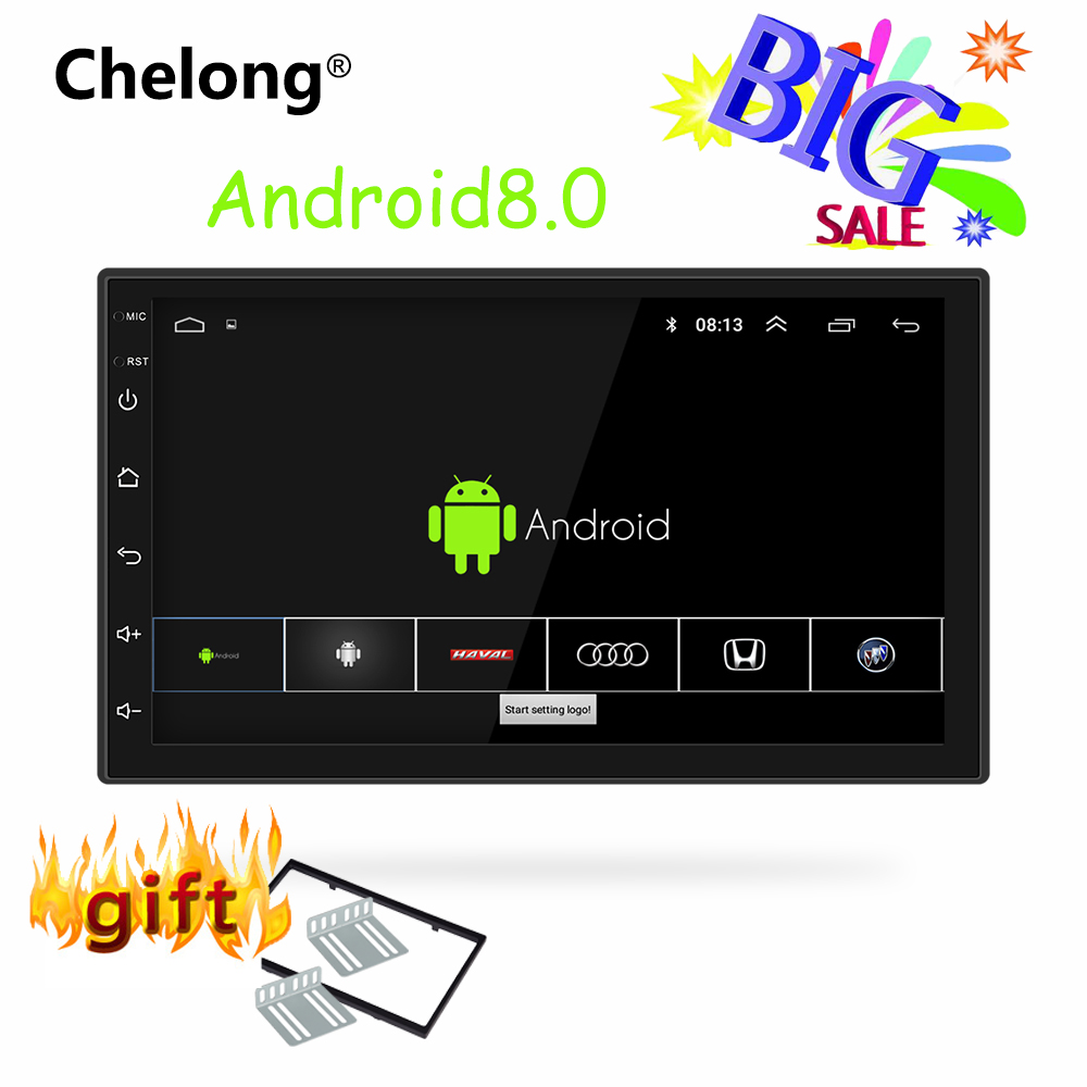2din Car DVD Player Android 8.0 universal Car Radio GPS NAVIGATION WIFI Bluetooth MP5 Player 2din car radio gps android Big sale