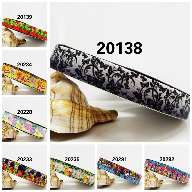 Бесплатная доставка 2016 новое поступление ленты аксессуары для волос лента 10 ярдов Печатный корсаж ленты 20138