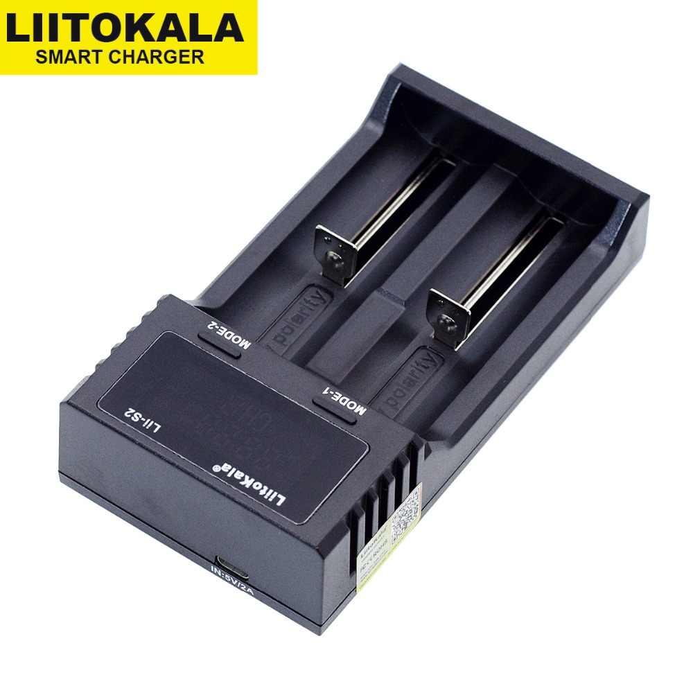 جديد Liitokala Lii-S2 18650 شاحن بطارية 1.2 فولت 3.7 فولت 3.2 فولت AA/AAA 26650 21700 نيمه بطارية ليثيوم أيون الشواحن الذكية + 5 فولت 2A التوصيل