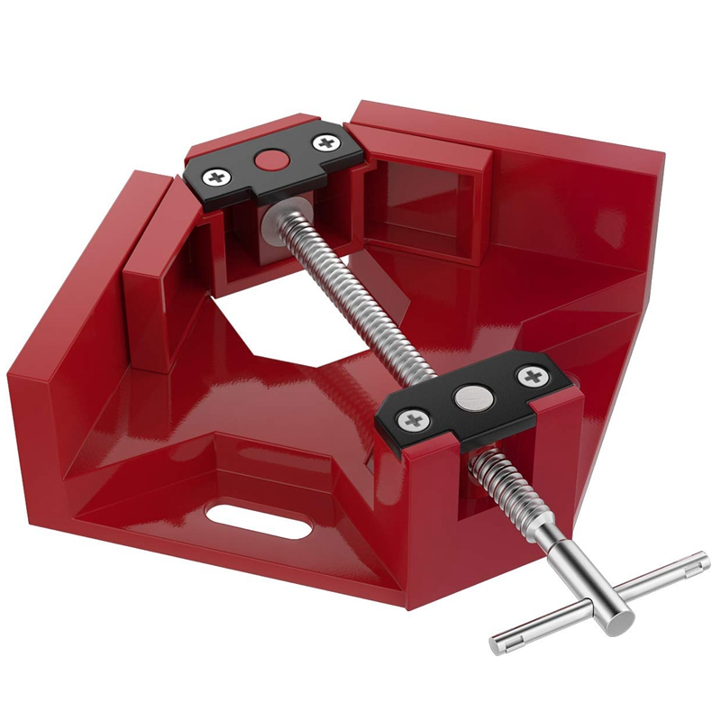 Right Angle Clamp, Single Handle 90°Corner Clamp, Aluminum Alloy Right Angle Clip Clamp Tool Woodworking Photo Frame Vise Hold