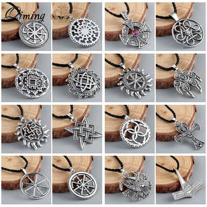 QIMING Pendant Necklace Women Male Man Silver Jewelry Gift