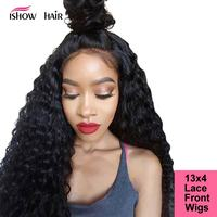Ishow Loose Deep Wave Lace Front Wigs Pre Plucked With Baby Hair Full Soft Brazilian Remy Lace Front Human Hair Wigs For Black