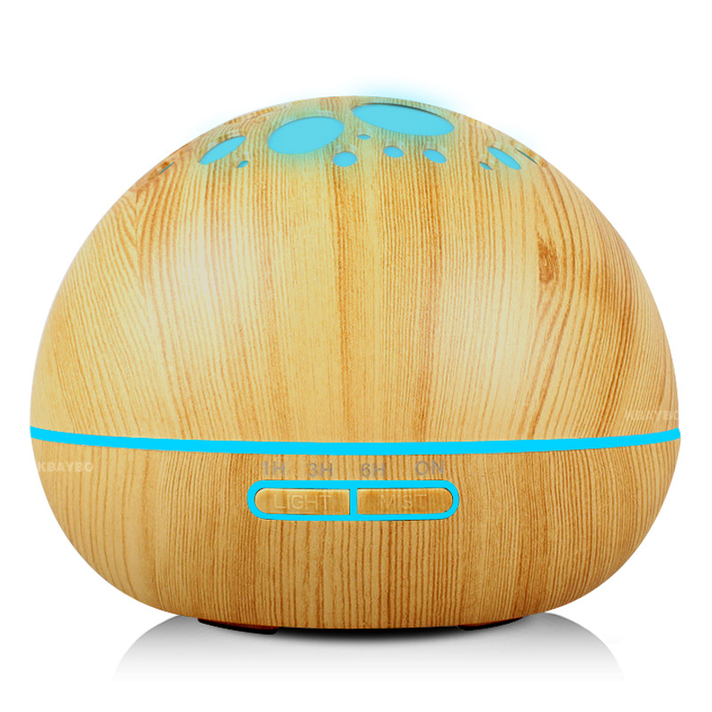 300ml Aroma Essential Oil Diffuser Wood Grain Ultrasonic Cool Mist Humidifier for Office Home Bedroom Living Room Kitchen 300ml aroma atomizer oil diffuser wood grain ultrasonic cool mist desktop air humidifier for office home bedroom living room spa
