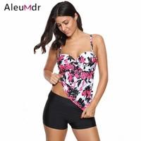 Aleumdr Women Print 2 Pieces Bikini Set S M L Swimwear Swimsuit Push Up Bathing Suit