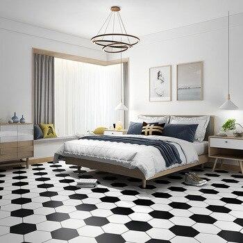 Gemusterte Bodenfliesen | Starke 60cm * 5m Selbst-adhesive Wallpaper Wasserdichte Boden Möbel Aufkleber Removable Badezimmer Küche Decor Hexagon Tapete