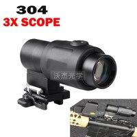 Tactical hunting 3X Rifle Scopes Airsoft Holografische Optische telescope Scope 20mm Rail Chasse Caza Luneta Para Rifle optics
