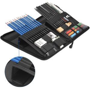 Image 2 - Ensemble de crayons pour dessin professionnels, 48 pièces, Kit de crayons pour dessin, en bois, fournitures artistiques, pour étudiants scolaires