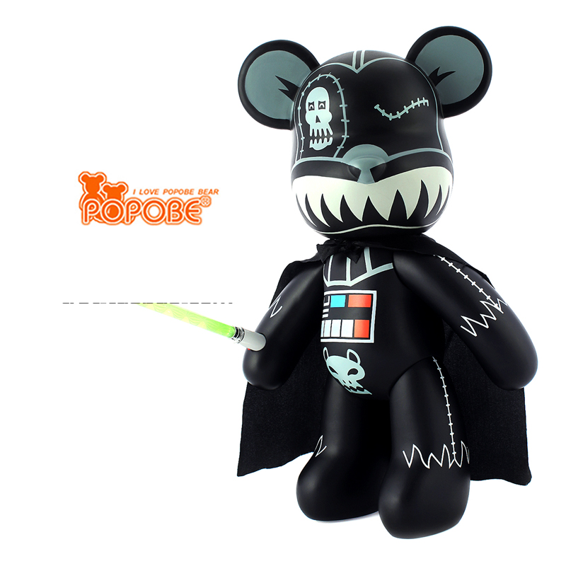 High Quality 15 inch Violence Bear Momo BEARBRICK Gloomy Bear POPOBE Darth Vader Vinyl Toys new original ijoy saber 100 20700 vw kit with 3000mah battery
