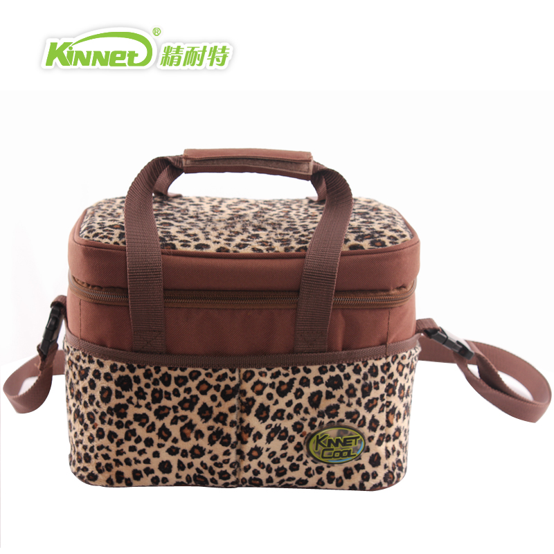 Free Shipping Kinnet Fashion Leopard Print Lunch Bag Cooler Insulation Picnic Hand Carry Shoulder In Bags From Luggage On