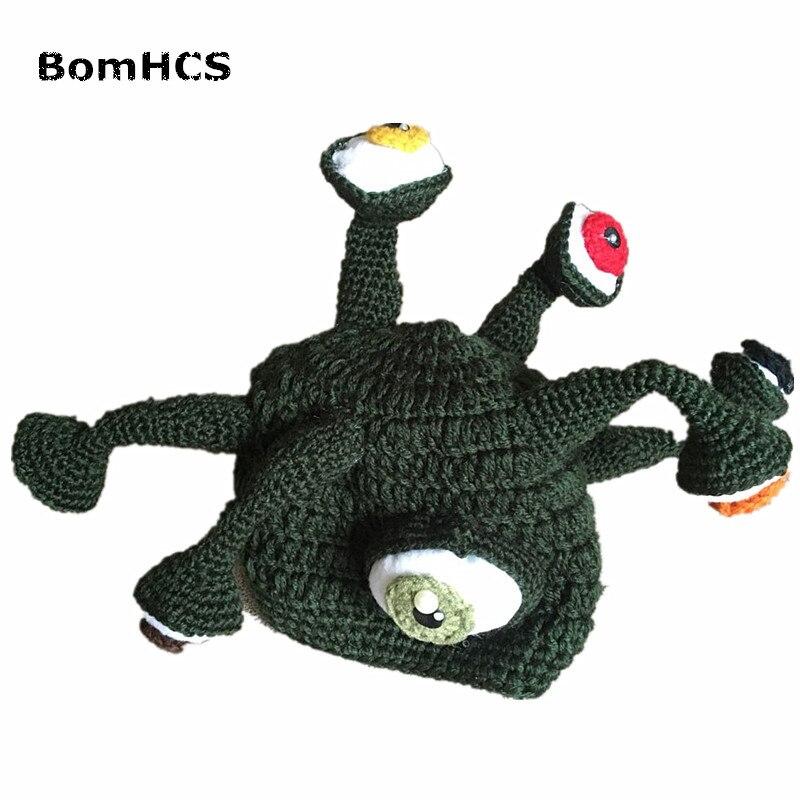 BomHCS Funny Gift Octopus Tentacles Hat 100% Handmade Crochet Winter Hat Caps Christmas Halloween